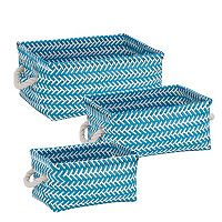 Honey-Can-Do 3-piece Zig Zag Storage Tote Set
