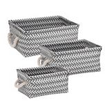 Honey-Can-Do Set of 3 Zig Zag Storage Tote Set