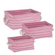 Honey-Can-Do 3-piece Zig Zag Storage Tote Set