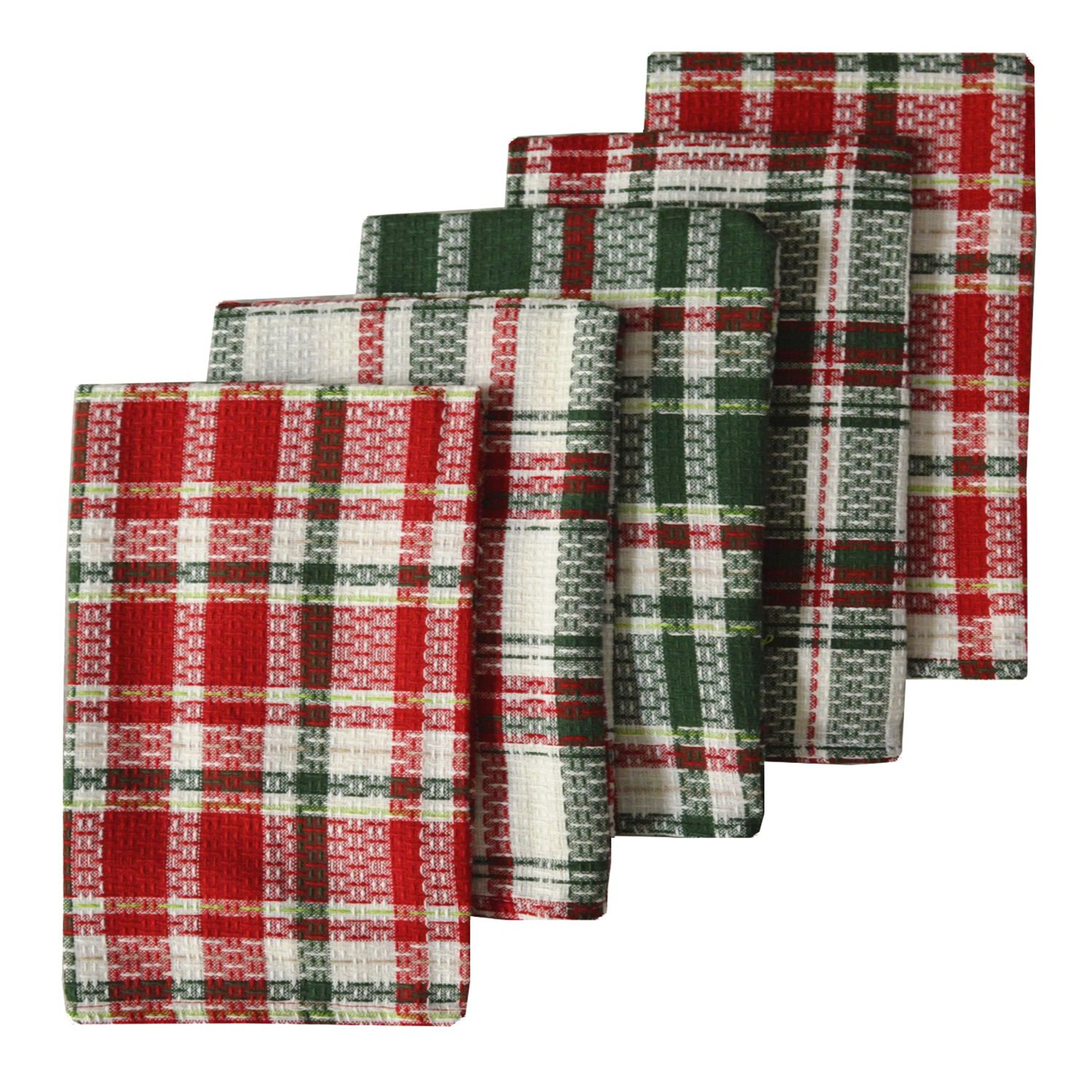 The Big One® Woven Plaid Kitchen Towel 5 Pk.