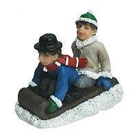 St. Nicholas Square® Village Double Figurines with Sled