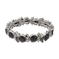Simply Vera Vera Wang Black Stone Geometric Stretch Bracelet
