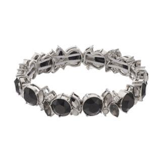 Simply Vera Vera Wang Black Stone Geometric Stretch Bracelet