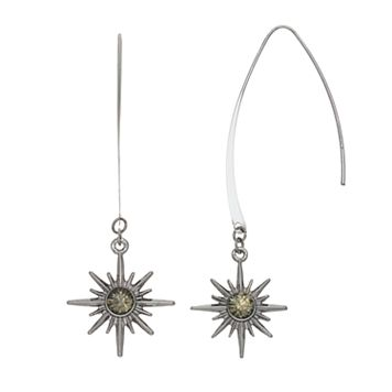 Simply Vera Vera Wang Nickel Free Starburst Threader Earrings