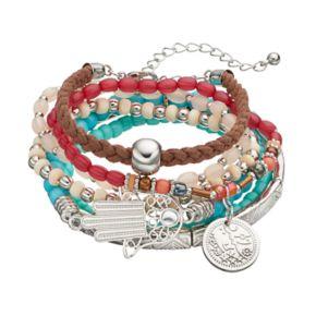 Hamsa & Star Charm Bracelet Set