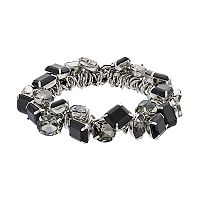 Simply Vera Vera Wang Shaky Black Stone Stretch Bracelet