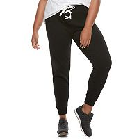 Juniors' Plus Size SO® Lace-Up Jogger Pants