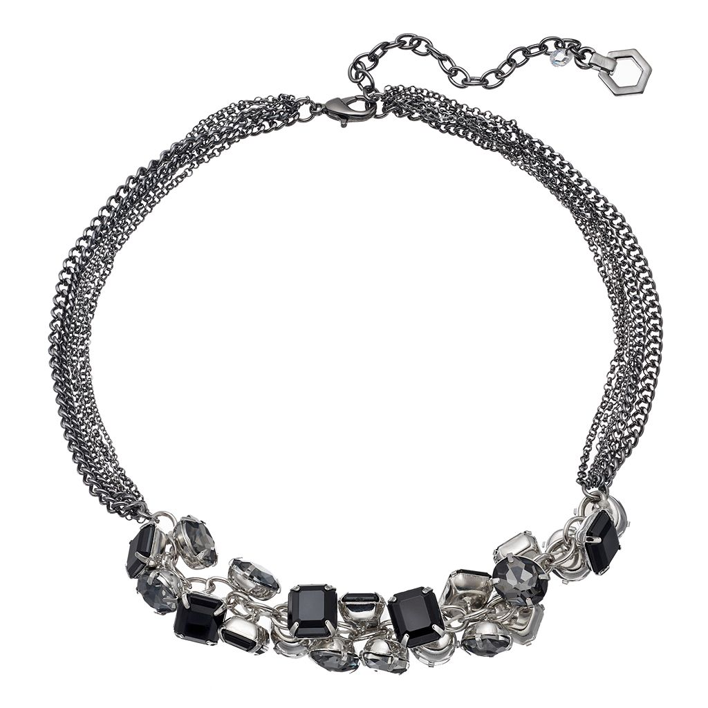 Simply Vera Vera Wang Black Shaky Stone Multi Strand Necklace