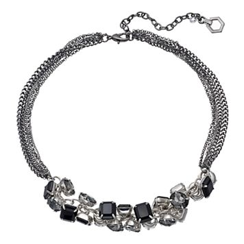 Simply Vera Vera Wang Black Shaky Stone Multi Strand Necklace