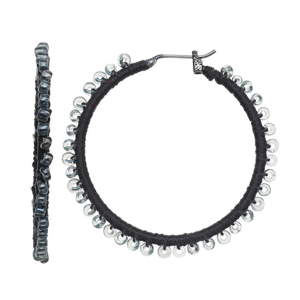 Simply Vera Vera Wang Nickel Free Seed Bead Hoop Earrings