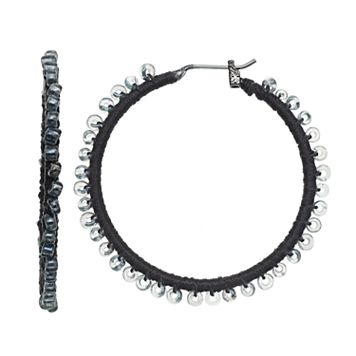 Simply Vera Vera Wang Nickel Free Seed Bead Hoop Earrings