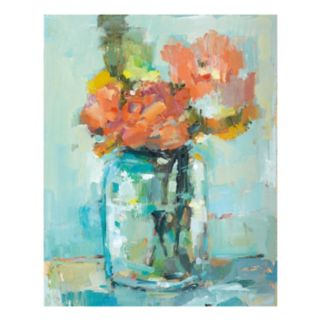 Mason Jar Flowers Canvas Wall Art