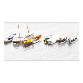 8 Whitewater Boats Italia Canvas Wall Art