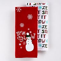 St. Nicholas Square® Let It Snow Kitchen Towel 2-pk.