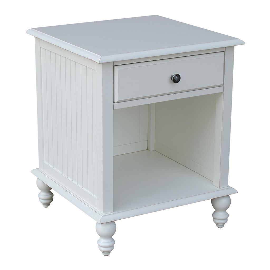 International Concepts Cottage White End Table
