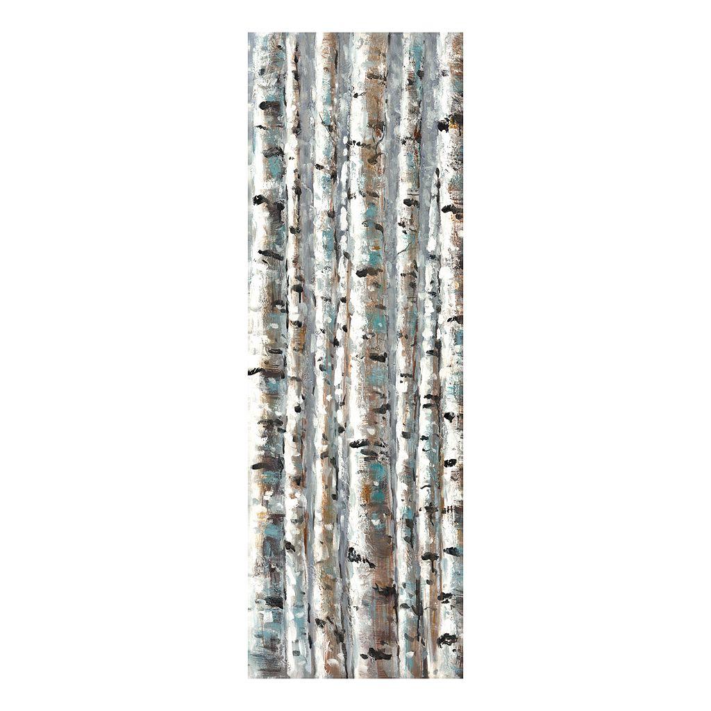 Birch Abstraction Vert I Canvas Wall Art