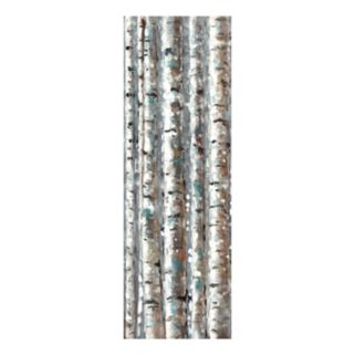 Birch Abstraction Vert II Canvas Wall Art
