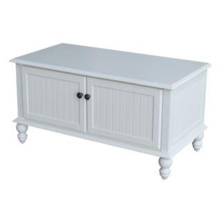 International Concepts Cottage White Storage Chest