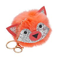 Fox Pom Pom Key Chain