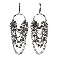 Simply Vera Vera Wang Nickel Free Two Tone Beaded Chain Waterfall Earrings