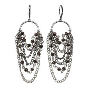 Simply Vera Vera Wang Nickel Free Two Tone Beaded Chain Waterfall Earrings