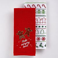 St. Nicholas Square® Gingerbread Kitchen Towel 2-pk.