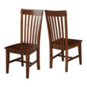 International Concepts High-Back Mission Dining Chair 2-piece Set