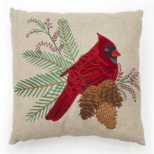 St. Nicholas Square® Cardinal Throw Pillow