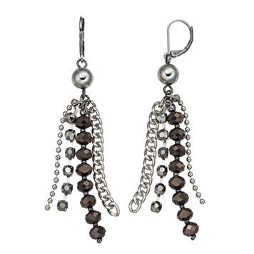 Simply Vera Vera Wang Two Tone Beaded Chain Fringe Drop Earrings