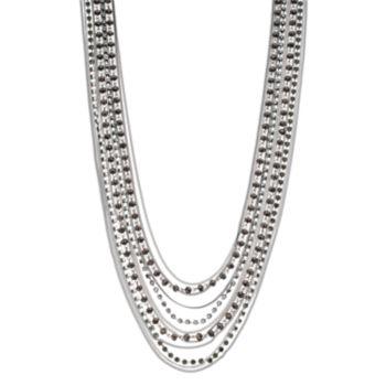 Simply Vera Vera Wang Black Beaded Multi Strand Necklace