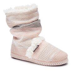 Women's MUK LUKS Scrunchy Boot Slippers