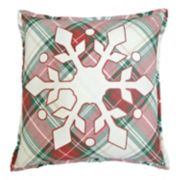St. Nicholas Square® Plaid Snowflake Throw Pillow