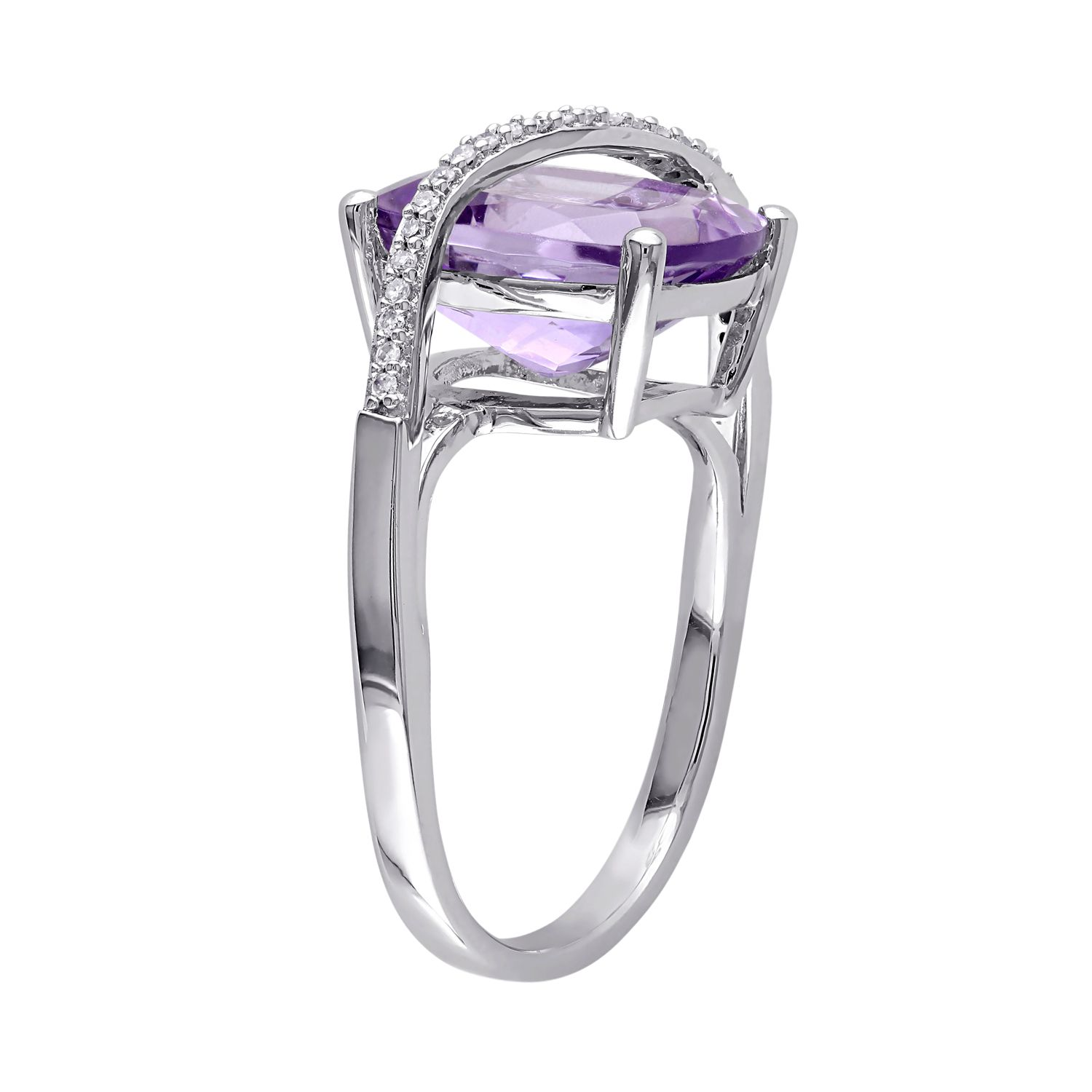 engagement for women wedding gemstone natural amethyst cushion silver jewelry purple fine from item leige ring cut in rings
