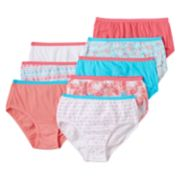 Girls 4-16 Hanes 8-pk. Tagless Solids & Patterns Briefs