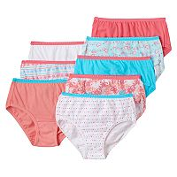 Girls 4-16 Hanes 8 pkTagless Solids & Patterns Briefs