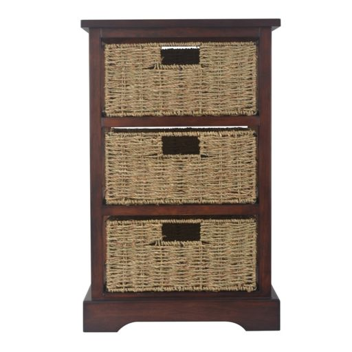 Decor Therapy Storage Chest & Woven Basket 4-piece Set