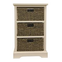 Decor Therapy Storage Chest & Woven Basket 4-piece Set