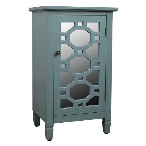 Decor Therapy Mirrored Storage Cabinet