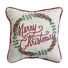 st nicholas square merry christmas mini pillow - Christmas Decorative Pillows