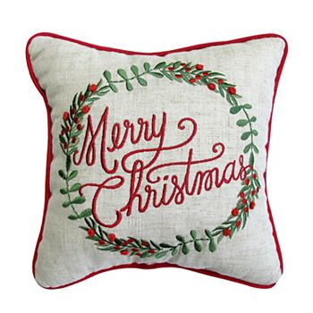 st nicholas square merry christmas mini pillow