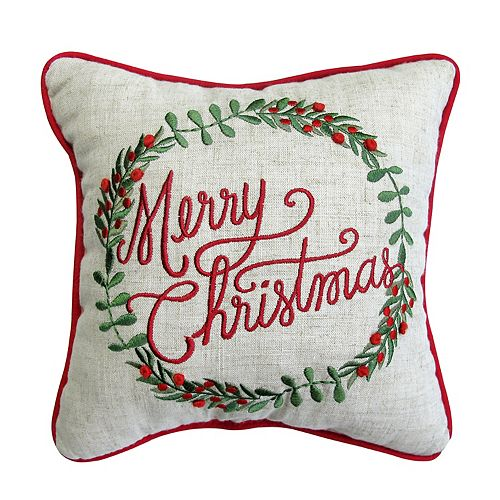St. Nicholas Square® ''Merry Christmas'' Mini Pillow