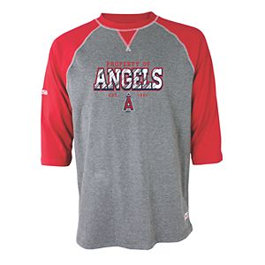 Men's Stitches Los Angeles Angels of Anaheim Raglan Tee
