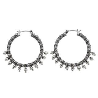 Simply Vera Vera Wang Shaky Bead Nickel Free Hoop Earrings