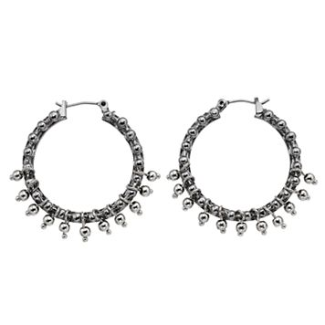 Simply Vera Vera Wang Shaky Bead Nickel Free Hoop Earrings