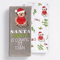 St. Nicholas Square® Santa Paws Kitchen Towel 2-pk.
