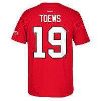 Men's Reebok Chicago Blackhawks Jonathan Toews 2017 Stanley Cup Playoffs Player Tee