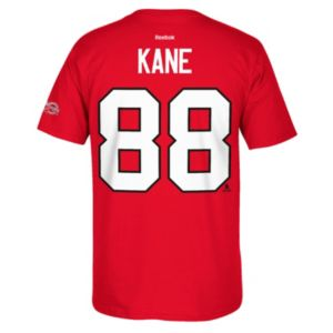 Men's Reebok Chicago Blackhawks Patrick Kane 2017 Stanley Cup Playoffs Player Tee