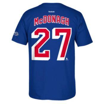 Men's Reebok New York Rangers Ryan McDonagh 2017 Stanley Cup Playoffs Player Tee