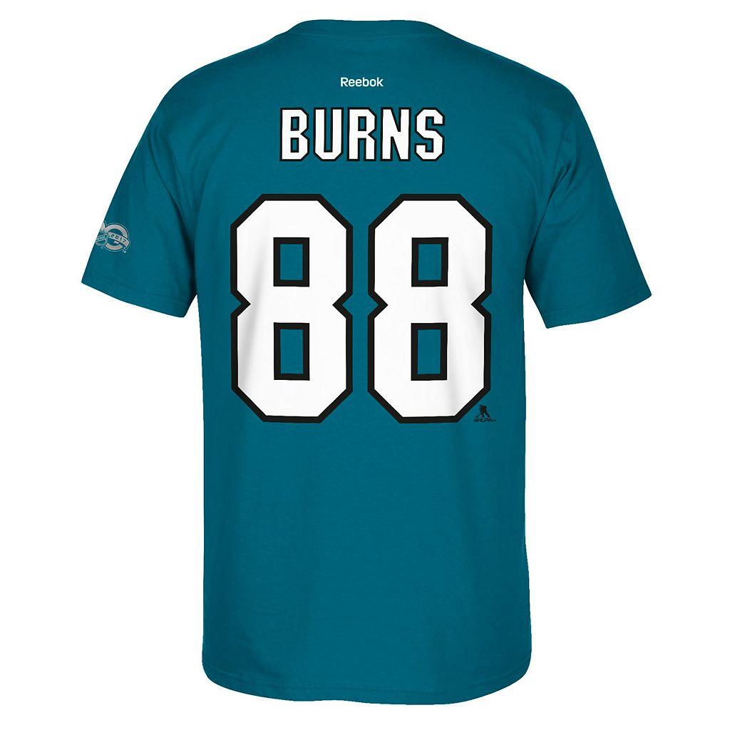 Men's Reebok San Jose Sharks Brent Burns 2017 Stanley Cup Playoffs Player Tee