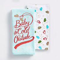 St. Nicholas Square® Baby It's Cold Outside Kitchen Towel 2-pk.